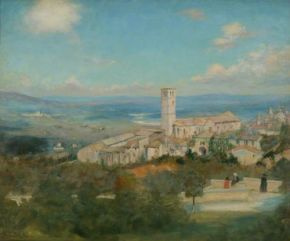 Dacre, Susan Isabel, 1844-1933; Assisi from the City Walls