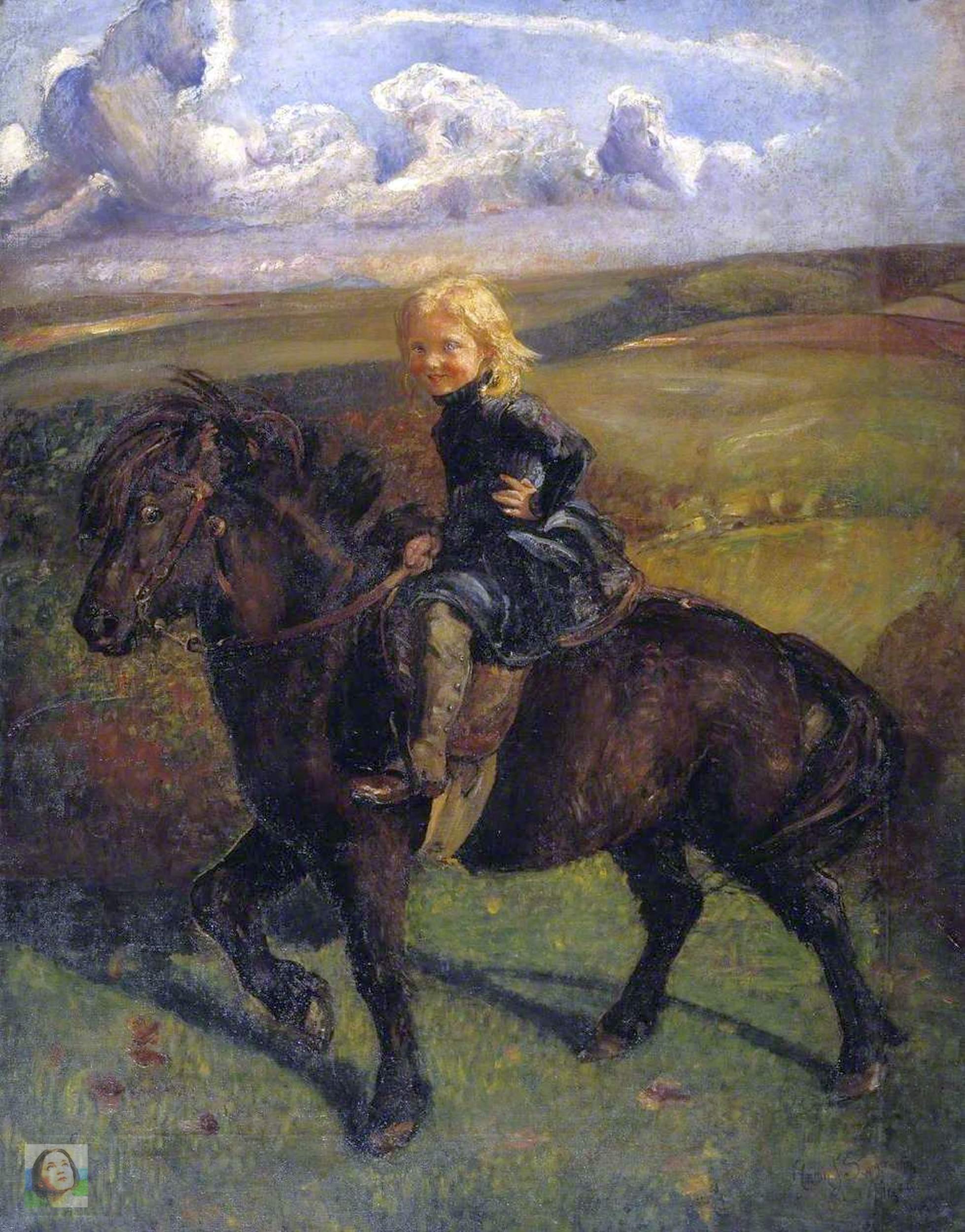 Swynnerton, Annie Louisa, 1844-1933; Miss Elizabeth Williamson on a Pony