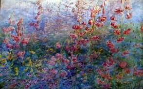 Herringham, Christiana Jane, 1852-1929; Red Lilies on Blue Ground
