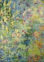Herringham, Christiana Jane, 1852-1929; Pink Aquilegia, Yellow Foxgloves, Cow Parsley