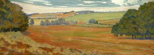 Herringham, Christiana Jane, 1852-1929; Landscape with Farm