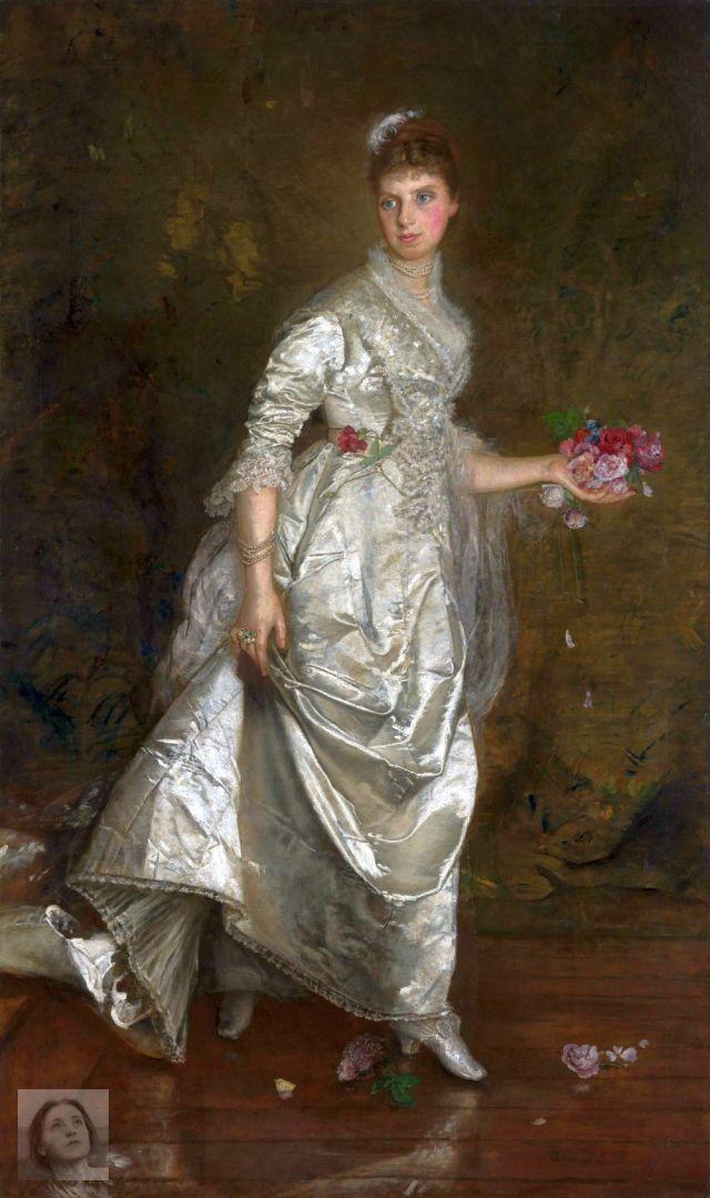 Idris - lady-white-canvas