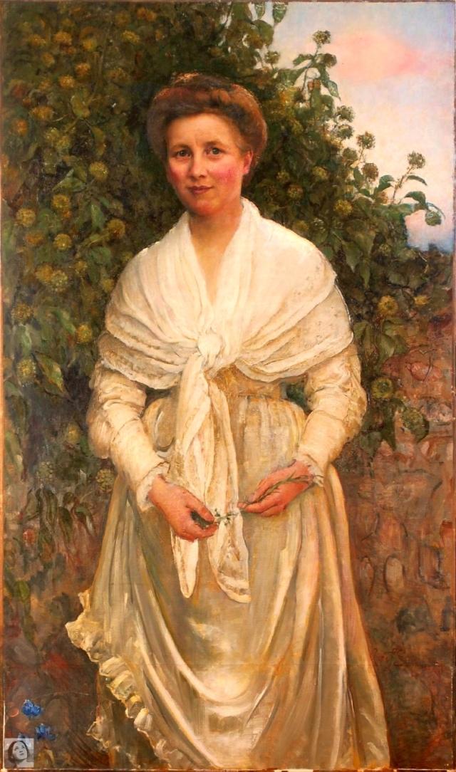 Lady by flowering ivy (www.arcadja.com) WM