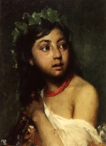 Italian girl with a necklace