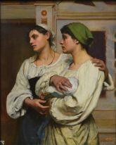 Italien women in church