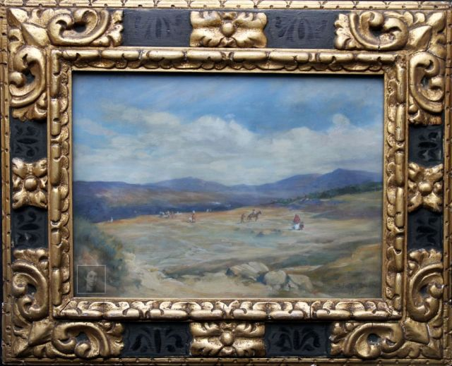 landscape-figures-donkeys-frame-WM