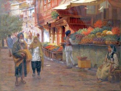 Frederick Swynnerton - 1905 A Street scene in Simla, India