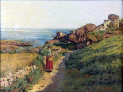Frederick Swynnerton - Women in a Costal Landscape